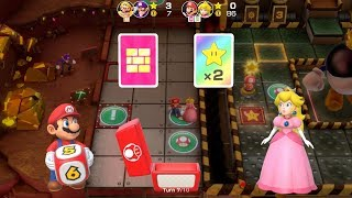 Super Mario Party Partner Party #220 Gold Rush Mine Mario & Peach vs Wario & Waluigi