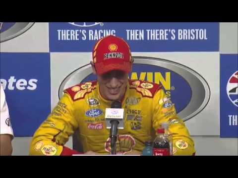 Joey Logano Bristol Winner NASCAR Video News Conference