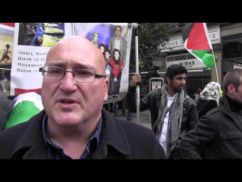 Dominic Noonan at the Pro-Palestine Protest in Manchester
