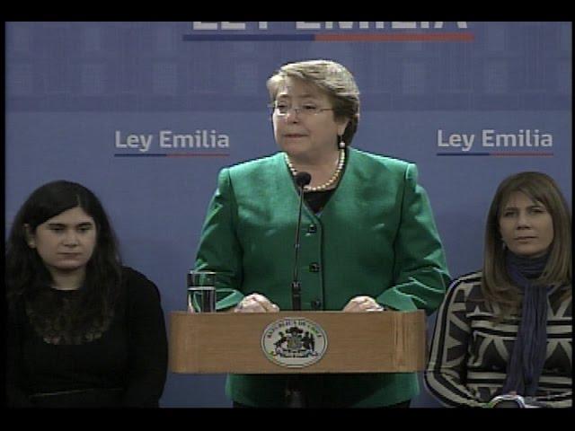 Presidenta Bachelet promulgó la Ley Emilia