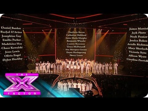 Top 13's Sandy Hook Tribute - THE X FACTOR USA 2012