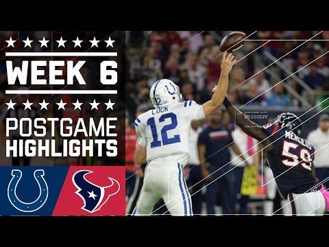 Colts Vs Texans Nfl Week 6 Game Highlights