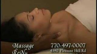 Angelina Cortez in Massage ReNu Commercial
