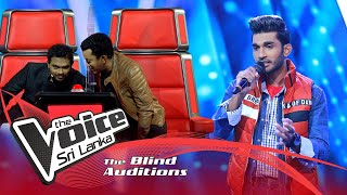 Gayashan Rajapakshe - Chandani Payala  Blind Auditions | The Voice Sri Lanka