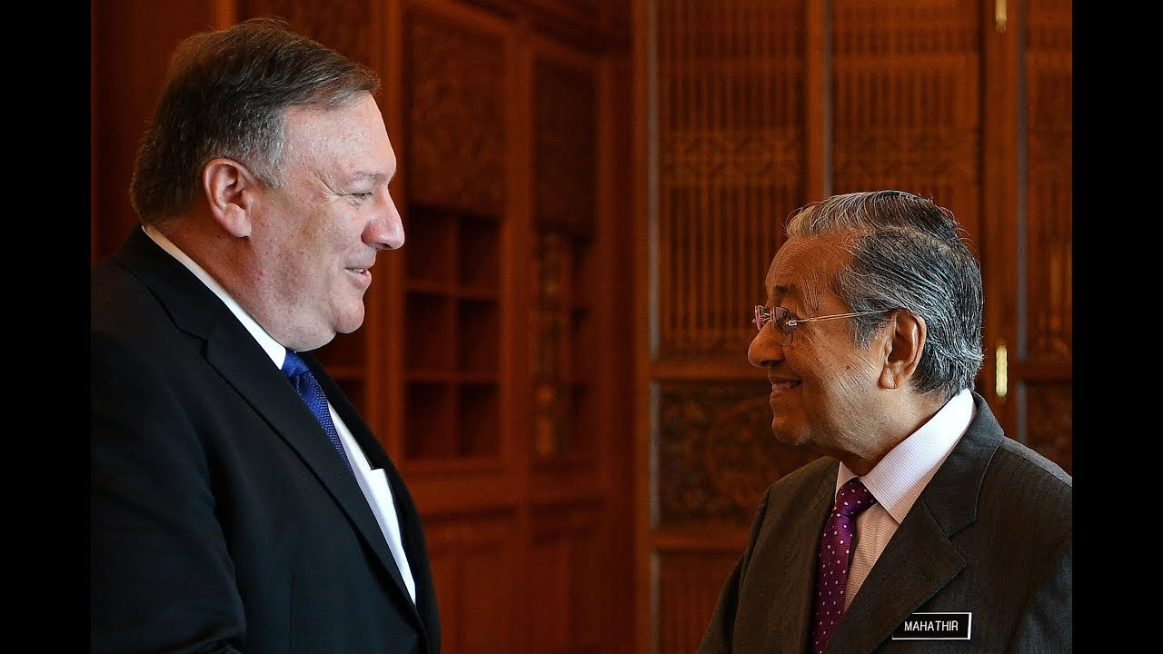 US secretary of state Pompeo calls on Dr Mahathir