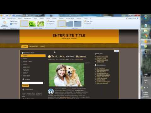 Artisteer 3.0 Web Design Tutorial&Overview WordPress, Joomla, Drupal