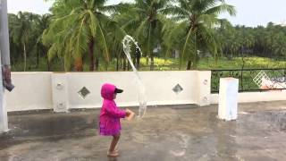 Maanya playing with water SloMo