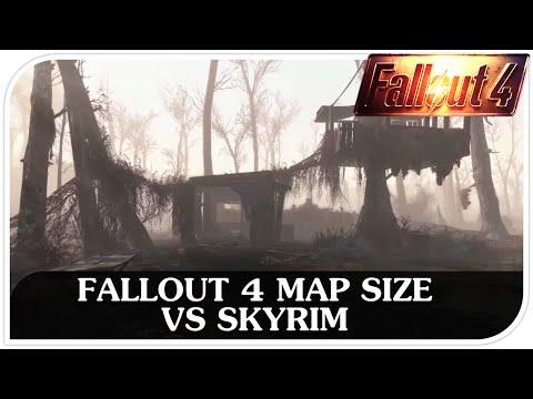 Fallout 4 Map Size Vs Skyrim Youtube