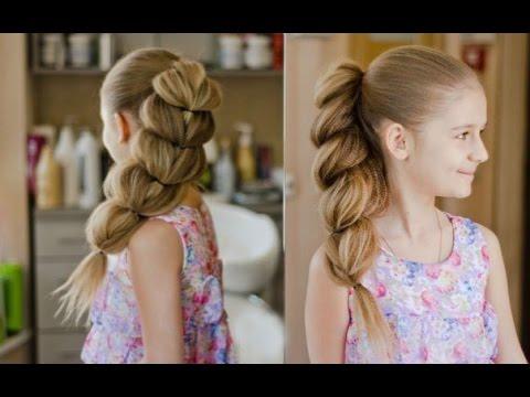 Объемная коса для девочки пошагово
