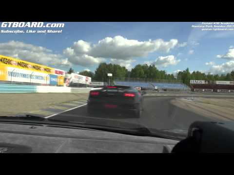 Ferrari 430 Scuderia in action on Mantorp Park, Sweden May 2013