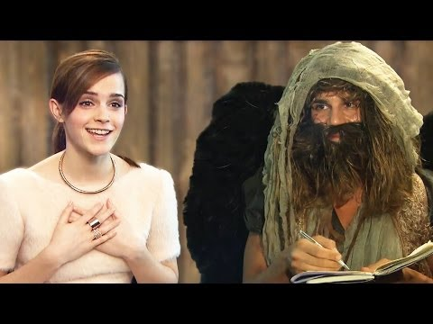 NOAH - Emma Watson, Logan Lerman + cast meet Hugo (Daniele Rizzo)