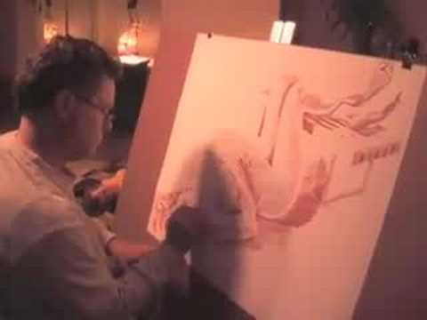 Artist James Kapche drawing nude. Sep 2, 2008 8:40 PM