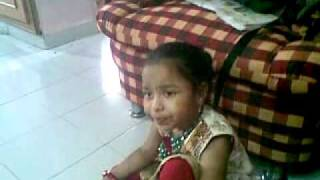 My daughter singing bada acha lagta hai (Aug 20th 2011)