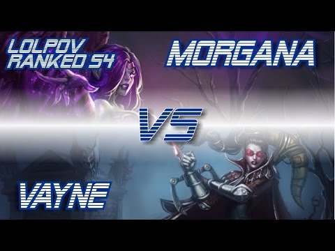 LoLPoV - Morgana vs Vayne [Mid] Ranked Road to Challenger S4 (League of Legends Live Commentary)
