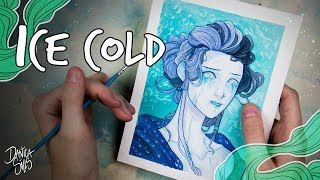 Ice Cold ♦ Watercolor and Digital Lineart Speedpaint
