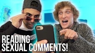 READING YOUR INAPPROPRIATE COMMENTS! (**sexual alert**)