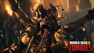 WW2 ZOMBIES - THE SHADOWED THRONE ENDING CUTSCENE GAMEPLAY! (Call of Duty WW2 Zombies)