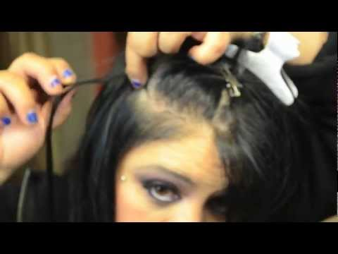 How to apply Hair Extensions: step by step instructions Micro Ring Loop