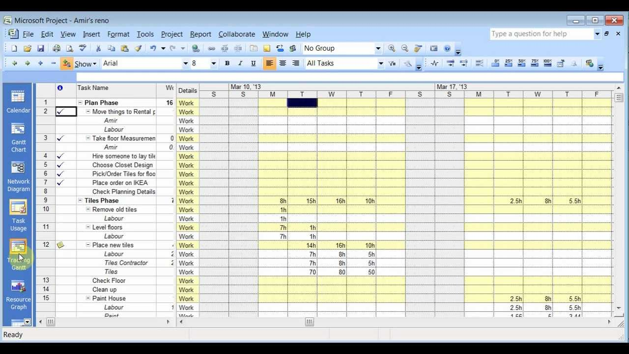Leveling Resource Microsoft Project