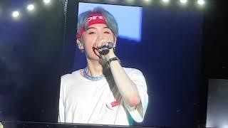 19.1.19 BTS concert in Singapore..talk-time (big screen)