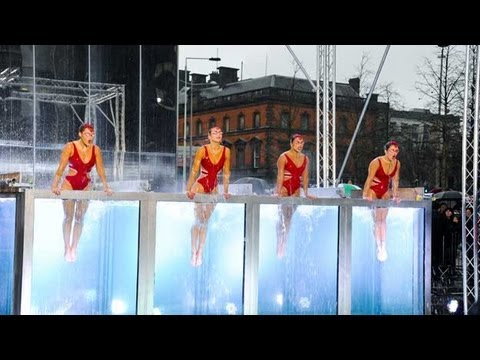 Synchronised swimmers Aquabatique - Britain