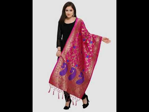 How to style Banarasi Silk dupatta in diferent ways | Ethnic Lookbook