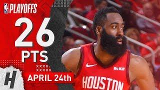 James Harden Full Game 5 Highlights Rockets vs Jazz 2019 NBA Playoffs - 26 Pts, 6 Ast, 6 Reb!