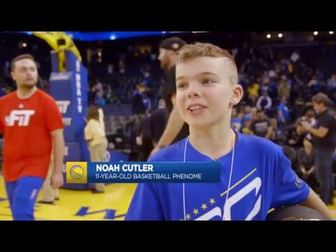 11-Year-Old Kid Shows Off His Handles on Warriors Ground