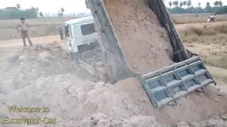 Excavator Vs Truck working Hard in Field in 2019