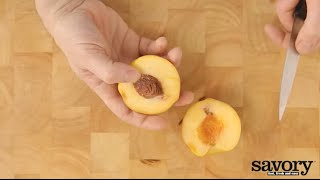 Cutting stone fruits – Savory