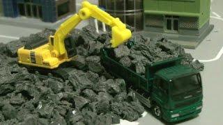 đồ chơi ô tô hoạt hình máy xúc Excavator Toys 굴삭기 장난감