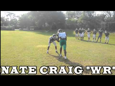 Nate Craig Tampa Catholic High School (WR) Class of 2016 Spring Practice 1 on 1's