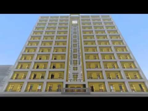 Minecraft modern hotel hilton tower inn youtube for Modern hotels near me