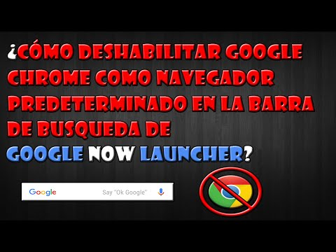 Como deshabilitar google chrome de la barra de busqueda de google now launcher