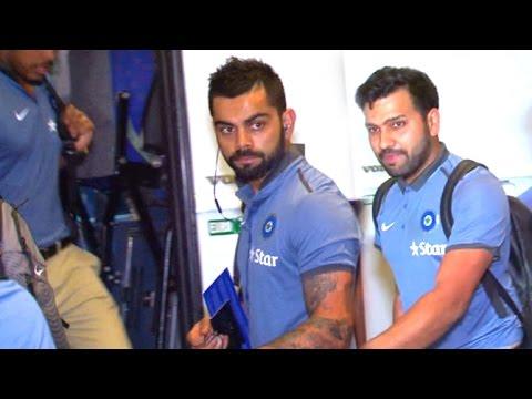 Indian Cricket Team At Airport Leaving for West Indies   Virat Kohli,Rohit Sharma,Shikhar Dhawan