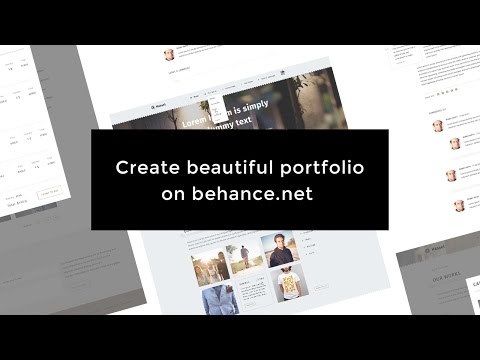 Как сделать красивое портфолио на Behance? How to create beautiful portfolio on Behance?