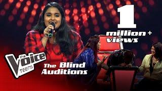 Lihini Minodha | Ghar More Pardesiya | Blind Auditions | The Voice Teens Sri Lanka