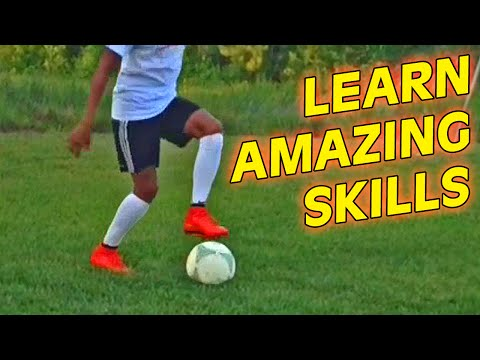 Learn Amazing Football Skills Tutorial - Neymar Skills/Ronaldo/Guidetti Tricks