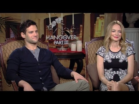 Justin Bartha & Heather Graham - The Hangover Part III Interview HD