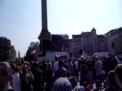 President Lech Kaczynski State Funeral Trafalgar Square 1