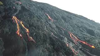 Drone Footage Shows Lava From Hawaii's Kilauea Volcano