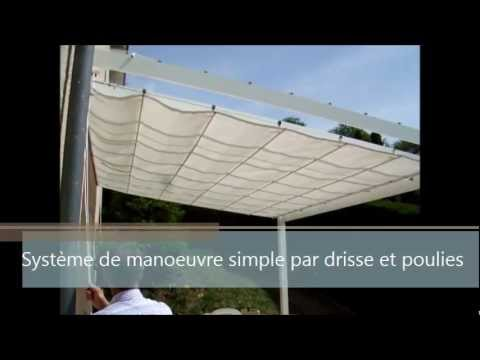 toile coulissante sur cables youtube. Black Bedroom Furniture Sets. Home Design Ideas
