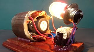 New DIY Free energy generator 220 Volts with Light bulb - Easy project at home