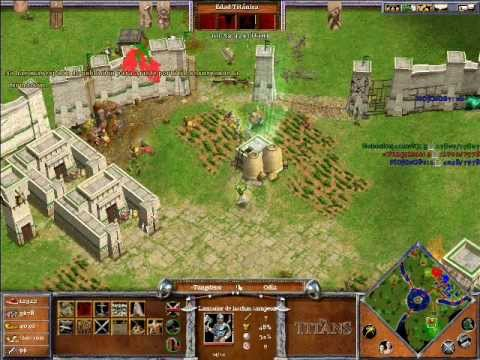 Age of Mythology The Titans ONLINE x Hamachi: Odin & Hades VS Ra (CPU Titan) - Parte 4/5