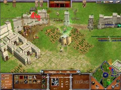 Age of Mythology The Titans ONLINE x Hamachi: Odin & Hades VS Ra (CPU Titan) - Parte 4/5