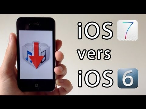 Downgrade de iOS 7.1.1 vers iOS 6 (6.1.3. 6.1.2. 6.x.x) pour iPhone