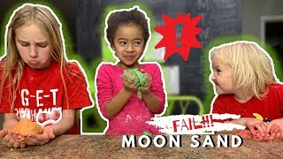 DIY MOON SAND FAIL | Easy Moon Sand | Kid Friendly Kinetic Sand