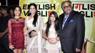 English Vinglish - Sridevi & family at English Vinglish event