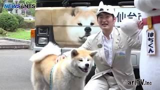 秋田犬のラッピングバスが仙台市を走ります!