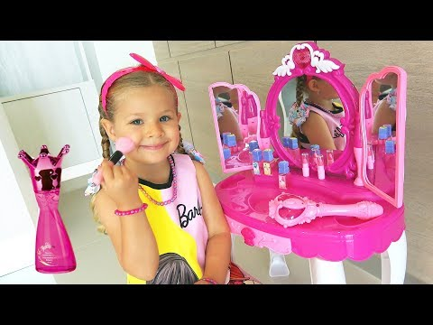 Диана и волшебное Зеркало! Diana and Roma Pretend Play with Makeup Play Table Toy
